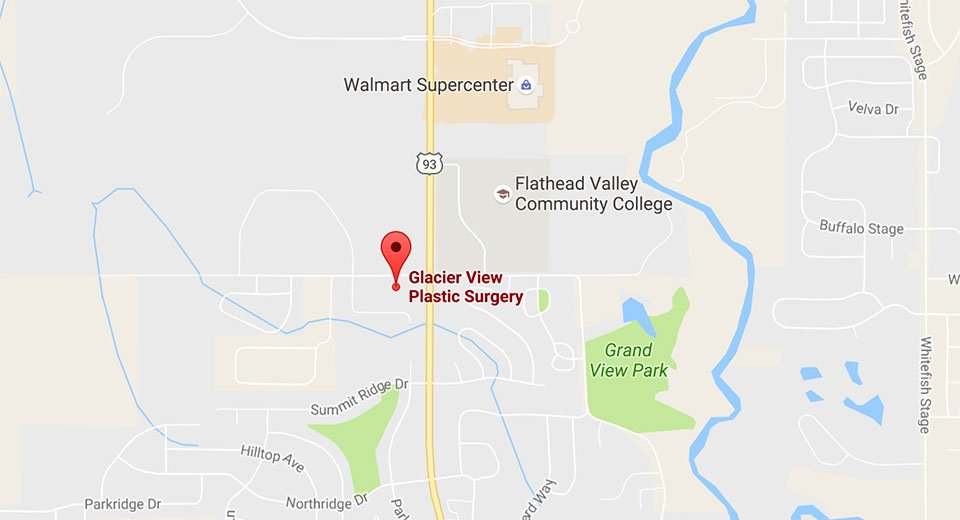 Map of Glacier View Plastic surgery Kalispell location
